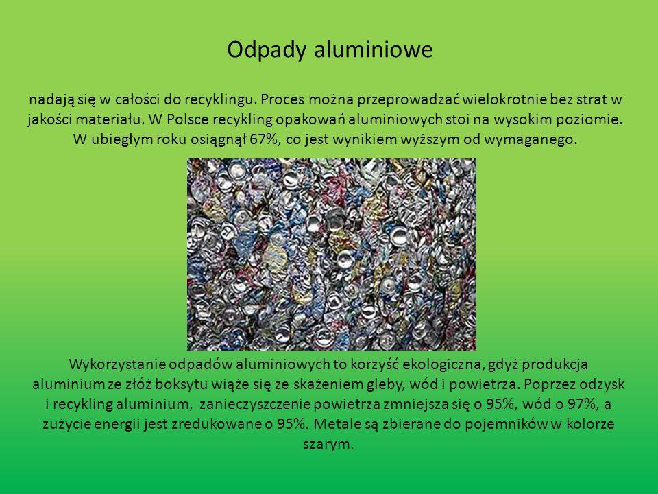 -jest procesem przetwarzania materiałów i wyrobów odpadowych do postaci surowców, z których te materiały i wyroby zostały wytworzone.
