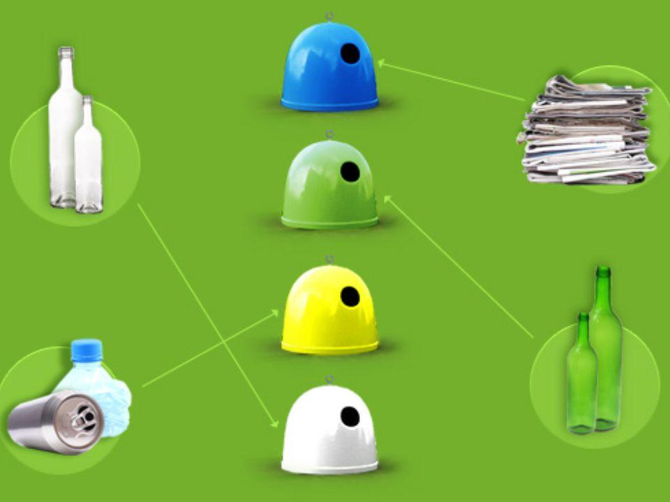 RECYKLING MATERIAŁOWY -polega na wykorzystaniu odpadów i zużytych materiałów do produkcji nowych wyrobów.