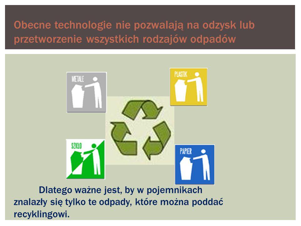 Pojemnik żółty (plastik) RECYKLING TO ODZYSKIWANIE NIEKTÓRYCH SUROWCÓW, PRZETWORZENIE ICH I POWTÓRNE (ALBO WIELOKROTNE) WYKORZYSTYWANIE co wrzucamy: - butelki PET - butelki po szamponach, - płynach -kubki po jogurtach, - margarynach czego nie wrzucamy: -butelek po olejach - silnikowych i spożywczych -skrzynek po napojach -tworzyw piankowych