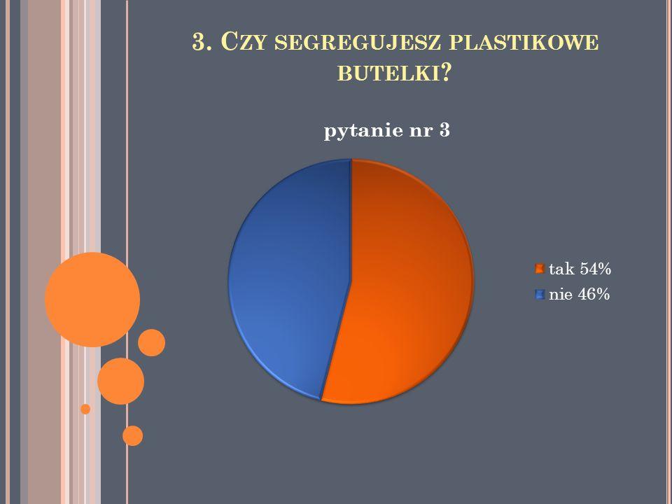 3. C ZY SEGREGUJESZ PLASTIKOWE BUTELKI ?