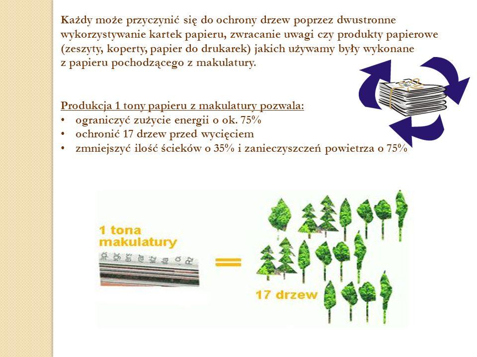 Każdy może przyczynić się do ochrony drzew poprzez dwustronne wykorzystywanie kartek papieru, zwracanie uwagi czy produkty papierowe (zeszyty, koperty