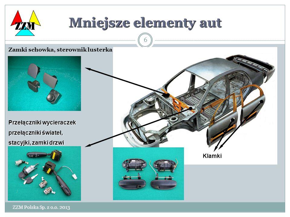 ZZM Polska Sp. z o.o. 2013 6 Mniejsze elementy aut Zamki schowka, sterownik lusterka Klamki zewnętrzne Włączniki zapłonu i zamki drzwi ZZM Klamki Klam