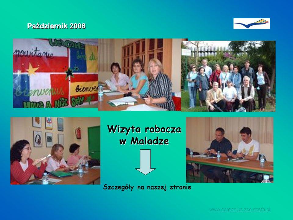 www.comenius-zse.strefa.pl PODCZAS WIZYTY OPRACOWANY ZOSTAŁ HARMONOGRAM DZIAŁAŃ NA ROK SZKOLNY 2008/2009 Październik 2008 I JUŻ WIEMY CO NAS CZEKA!