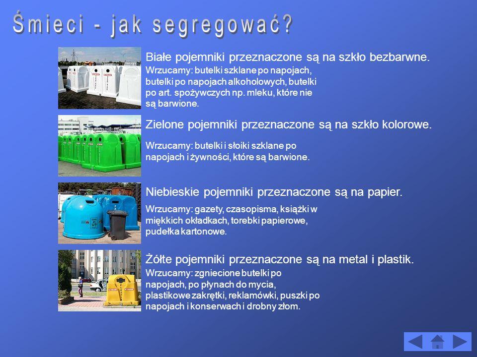 Ułatwienie późniejszego wykorzystanie surowców wtórnych.