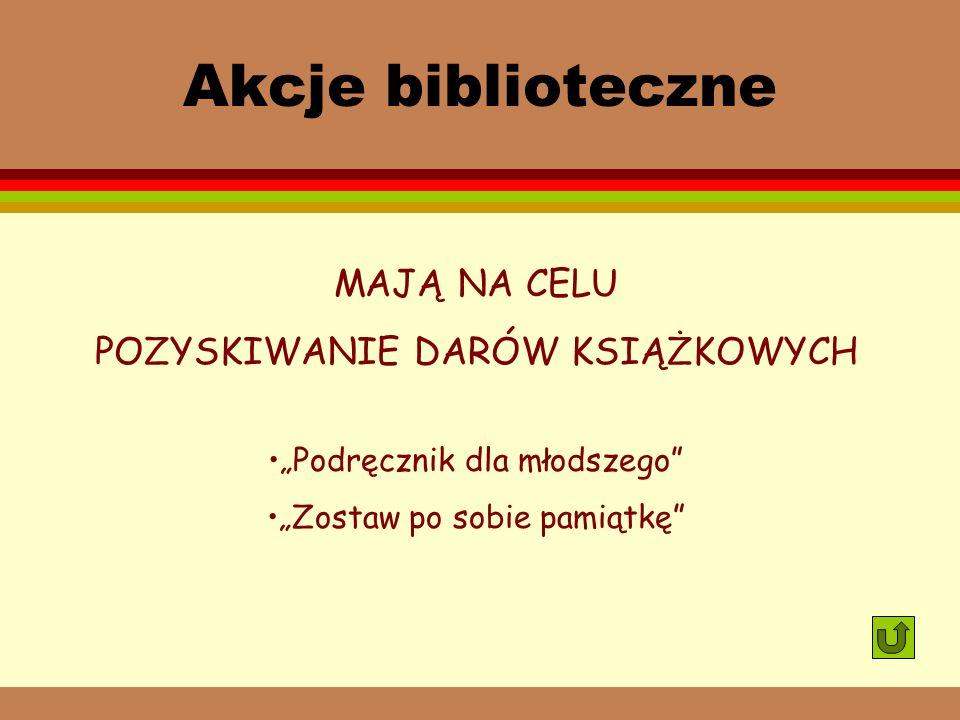 Edukacja czytelnicza i medialna ZAGADNIENIA REALIZOWANE NA LEKCJACH BIBLIOTECZNYCH: Zbiory biblioteki szkolnej. Regulamin korzystania. Warsztat inform