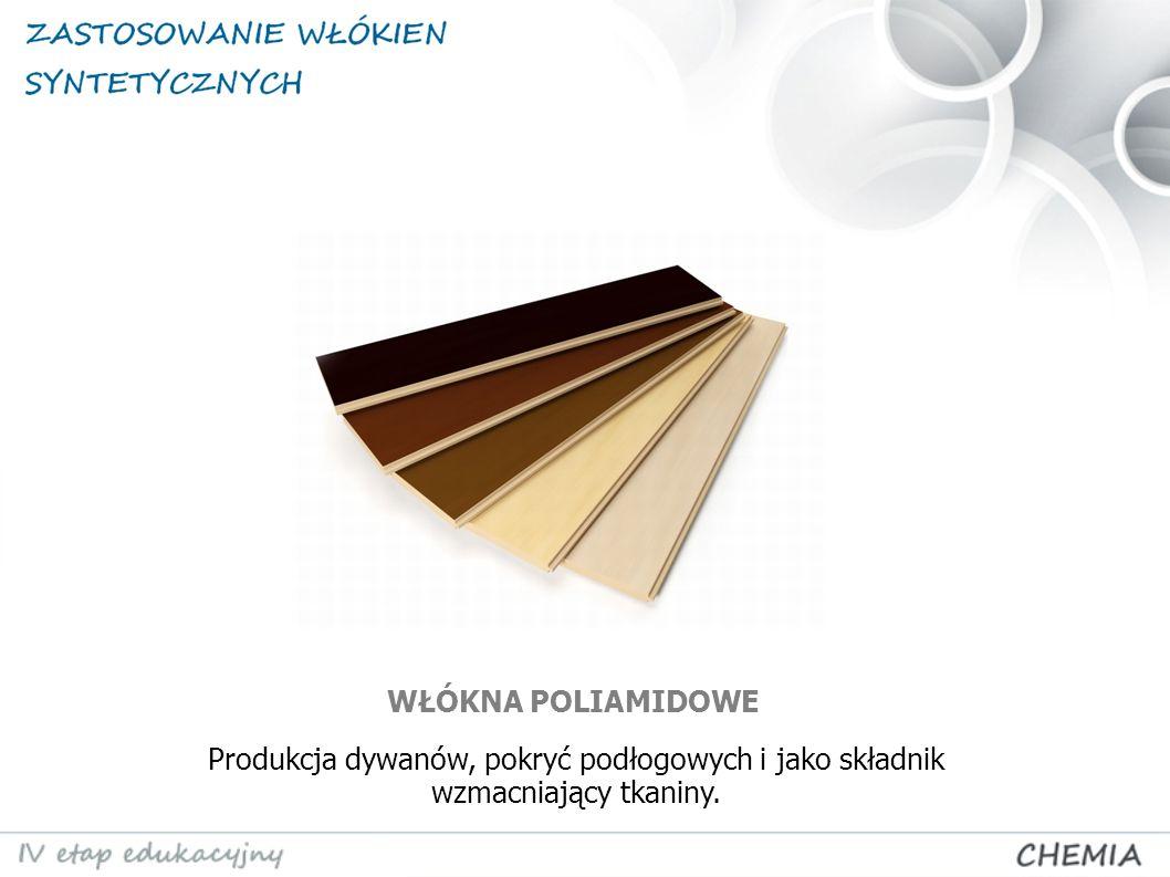 Produkcja dywanów, pokryć podłogowych i jako składnik wzmacniający tkaniny. WŁÓKNA POLIAMIDOWE
