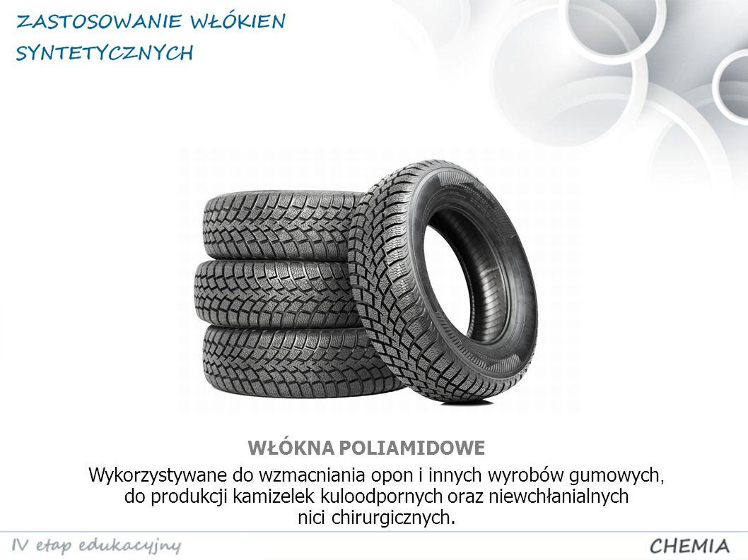 Wykorzystywane do wzmacniania opon i innych wyrobów gumowych, do produkcji kamizelek kuloodpornych oraz niewchłanialnych nici chirurgicznych. WŁÓKNA P