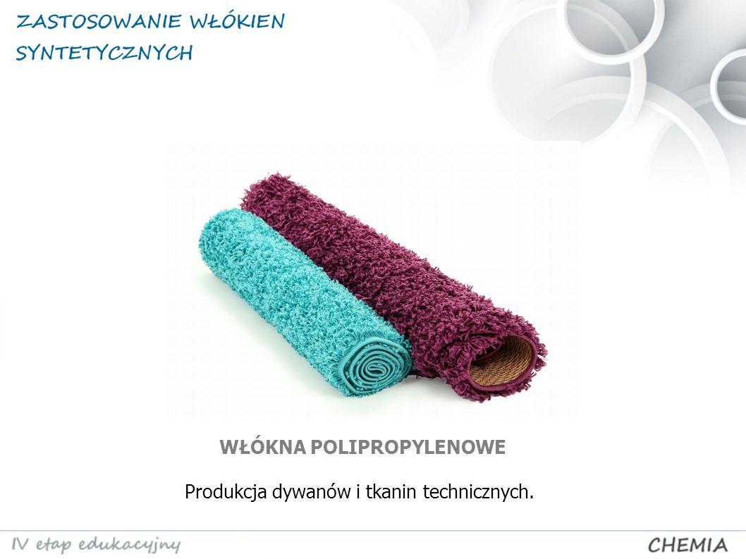 Produkcja dywanów i tkanin technicznych. WŁÓKNA POLIPROPYLENOWE