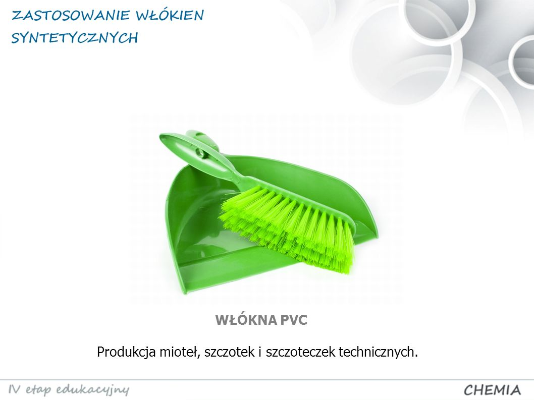Produkcja mioteł, szczotek i szczoteczek technicznych. WŁÓKNA PVC