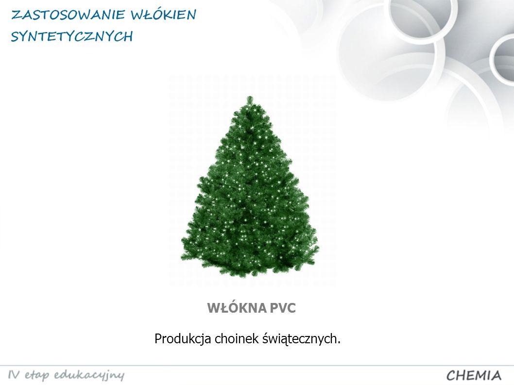 Produkcja choinek świątecznych. WŁÓKNA PVC