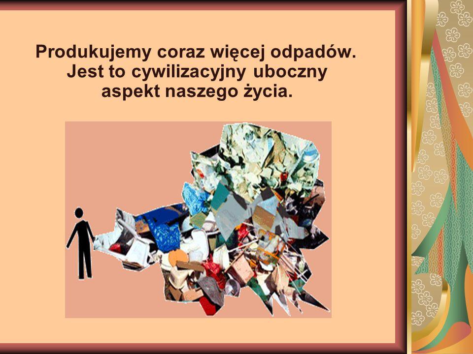Produkujemy coraz więcej odpadów. Jest to cywilizacyjny uboczny aspekt naszego życia.