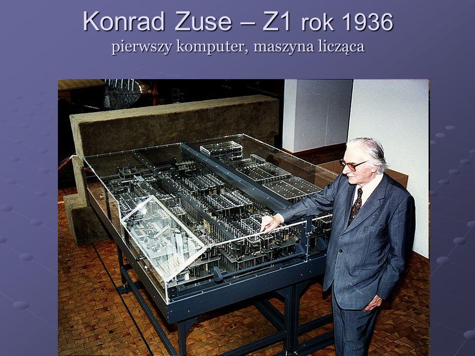 Konrad Zuse – Z1 rok 1936 pierwszy komputer, maszyna licząca