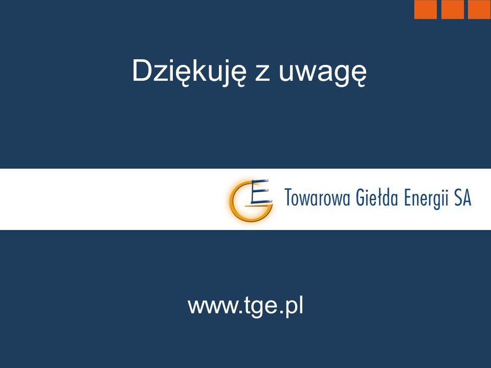 Dziękuję z uwagę www.tge.pl