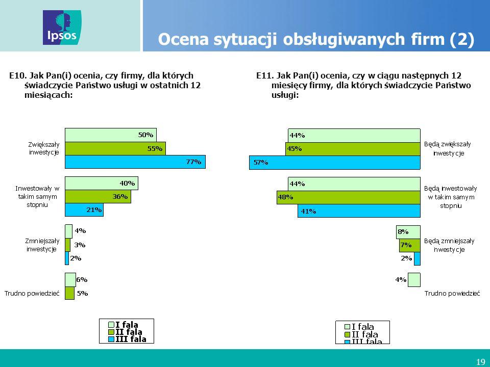 19 Ocena sytuacji obsługiwanych firm (2) E10.