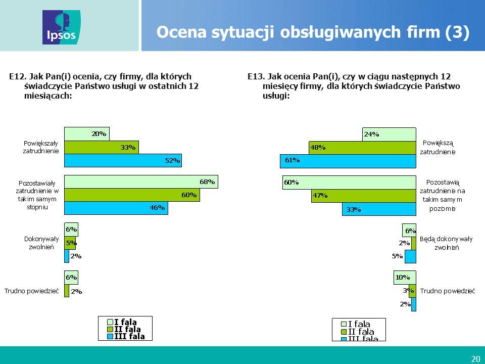 20 Ocena sytuacji obsługiwanych firm (3) E12.