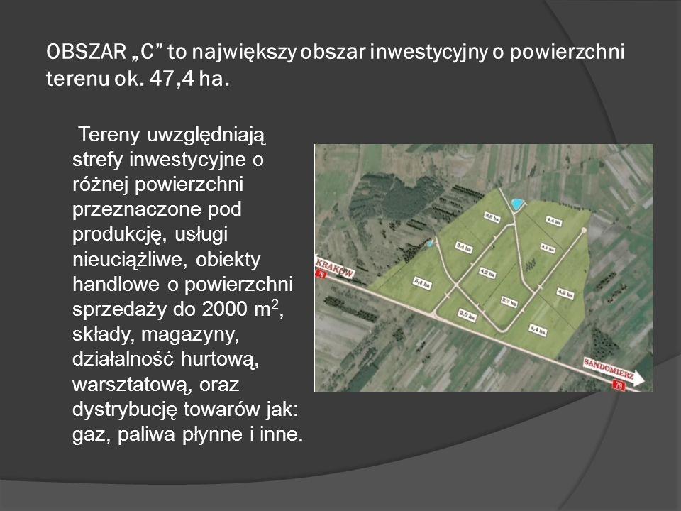 OBSZAR C to największy obszar inwestycyjny o powierzchni terenu ok.