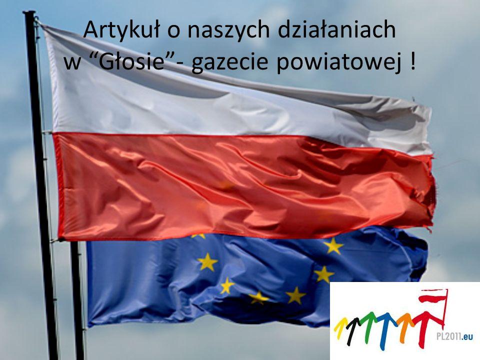 Artykuł o naszych działaniach w Głosie- gazecie powiatowej !