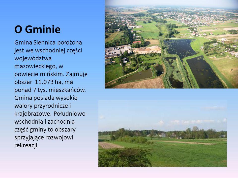O Gminie Gmina Siennica położona jest we wschodniej części województwa mazowieckiego, w powiecie mińskim. Zajmuje obszar 11.073 ha, ma ponad 7 tys. mi
