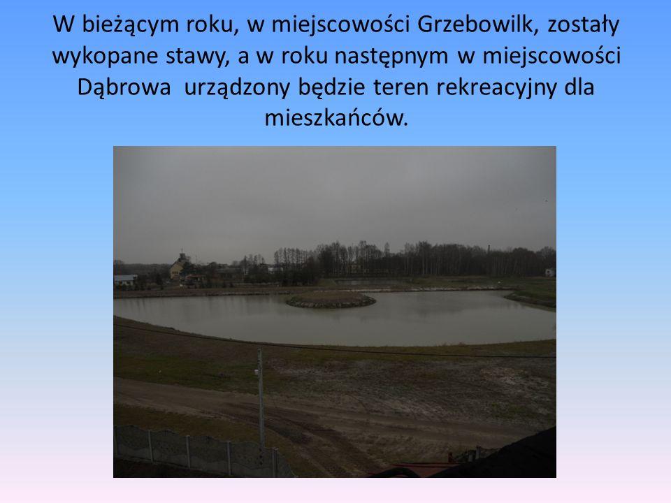 W bieżącym roku, w miejscowości Grzebowilk, zostały wykopane stawy, a w roku następnym w miejscowości Dąbrowa urządzony będzie teren rekreacyjny dla m