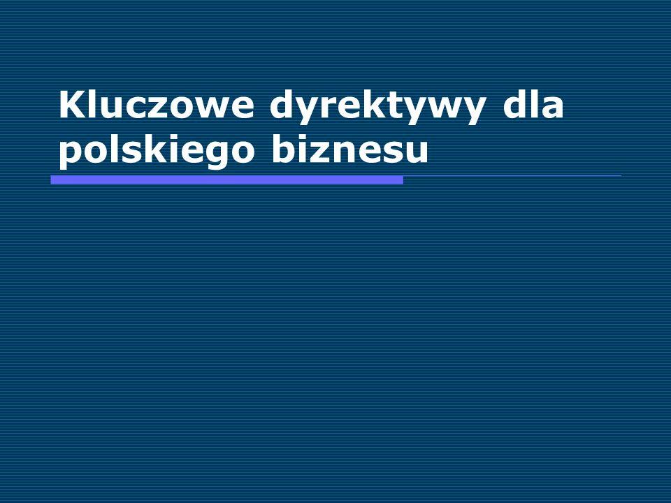 Kluczowe dyrektywy dla polskiego biznesu