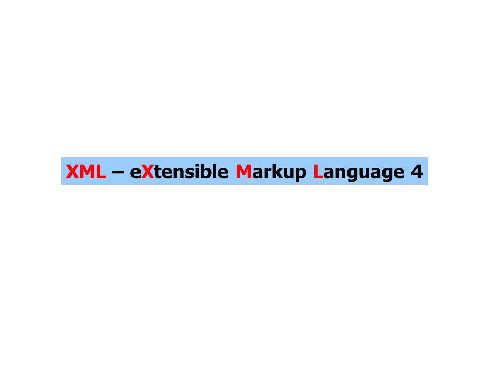 XML – eXtensible Markup Language 4