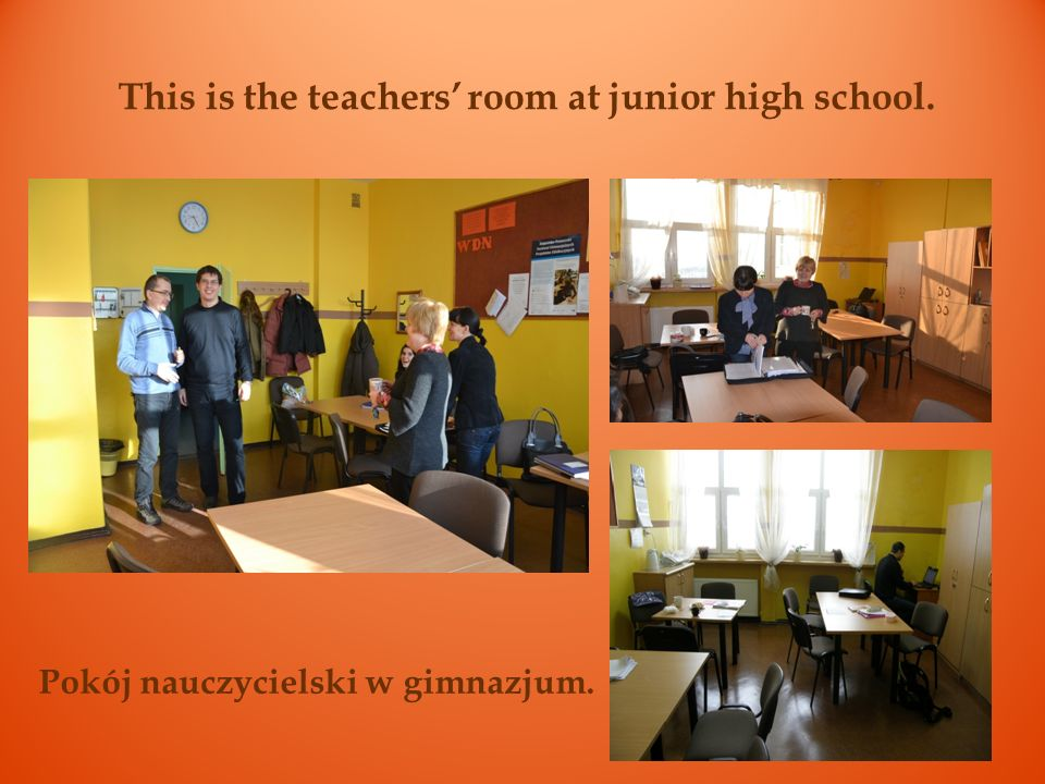 This is our school library. You can borrow and read books here. Biblioteka z czytelnią.