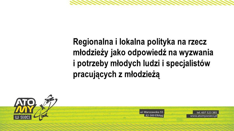 Stworzenie programu operacyjnego – co w programie Powołanie międzysektorowej grupy ekspertów, przedstawicieli instytucji, organizacji, środowisk w obszarach tematycznych Opracowanie i przyjęcie wieloletniego programu na rzecz młodzieży Stworzenie diagnozy młodzieży w regionie Dopracowanie i wdrażanie lokalnych modeli wspierania młodzieży (młodzi ludzie partnerem do dialogu, nie tylko podmiotem troski)