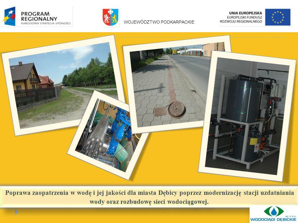 Poprawa zaopatrzenia w wodę i jej jakości dla miasta Dębicy poprzez modernizację stacji uzdatniania wody oraz rozbudowę sieci wodociągowej.