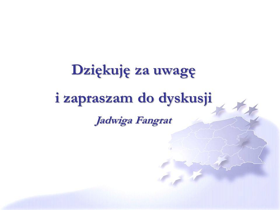 Dziękuję za uwagę i zapraszam do dyskusji Jadwiga Fangrat