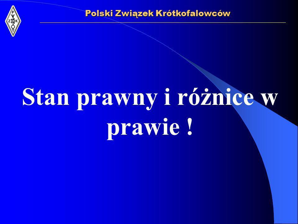 - - Międzynarodowa Unia Telekomunikacyjna - Prawo Telekomunikacyjne - Prawo Budowlane - Prawo Ochrony Środowiska Polski Związek Krótkofalowców