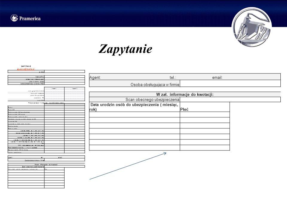 Zapytanie ZAPYTANIE grupowe@reverto.pl z dnia: Nazwa firmy Adres (kod, miejscowość) ulica, nr domu, lokalu rodzaj działalności (branża - PKD) Wariant