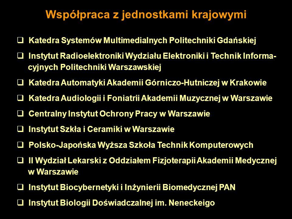 Katedra Systemów Multimedialnych Politechniki Gdańskiej Instytut Radioelektroniki Wydziału Elektroniki i Technik Informa- cyjnych Politechniki Warszaw