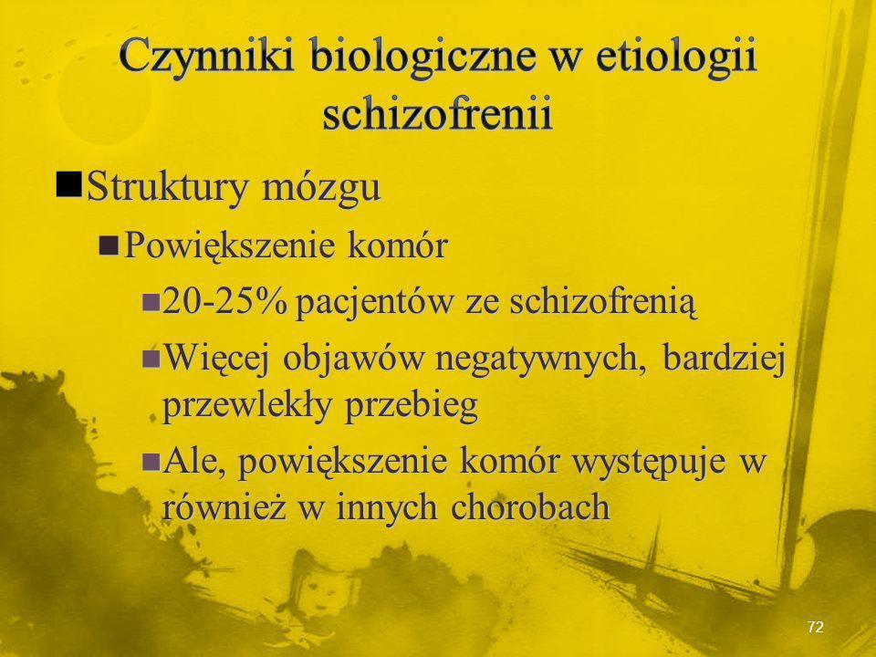 71 Motoryczne i językowe funkcjonowanie osób chorych na schizofrenią w okresie dziecięcym Mary Cannon i in., Arch Gen Psych, 2002, 59, 449-556 -4.0 -3