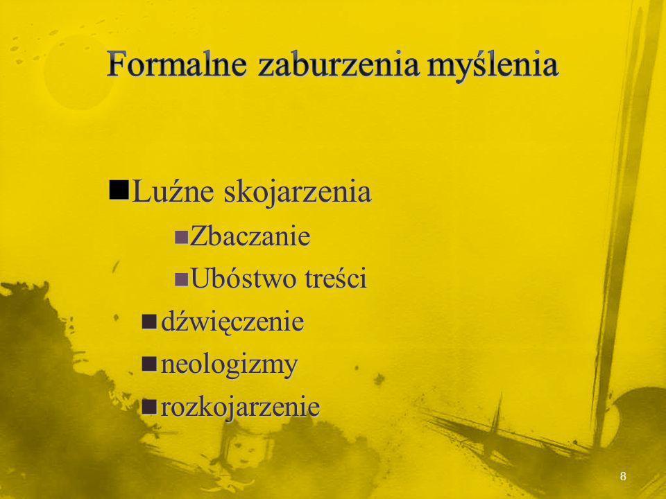 18 Schizofrenia - faza ostra Jest to faza w której pacjent wykazuje wyraźne objawy psychotyczne.