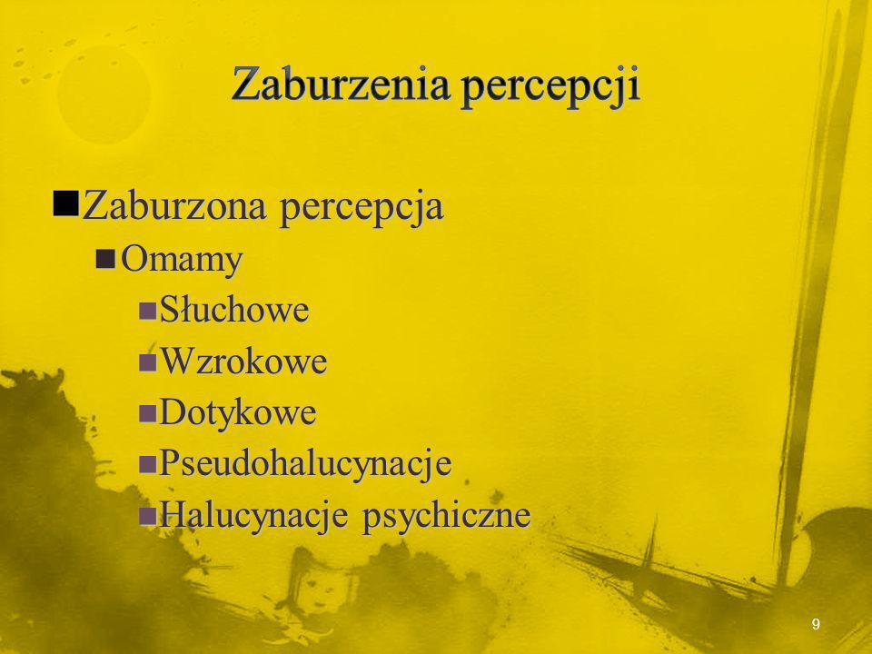Zdezorganizowana (hebefreniczna) Zdezorganizowana (hebefreniczna) Dezorganizacja myślenia, afektywna, zachowania Dezorganizacja myślenia, afektywna, zachowania Złe rokowanie Złe rokowanie Wczesny początek Wczesny początek 29