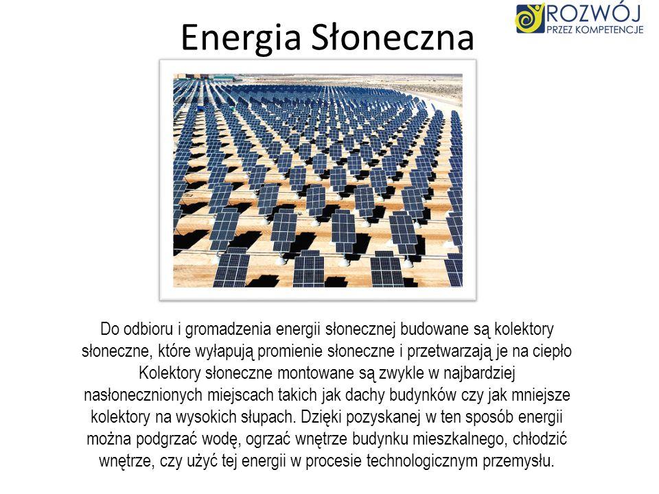 Energia Wiatru Energia wiatru - energia kinetyczna przemieszczających się mas powietrza, zaliczana do odnawialnych źródeł energii. Jest przekształcana