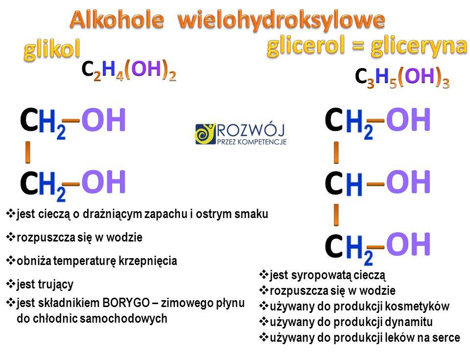 C 6 H 12 O 6 C 2 H 6 O + CO 2 1 cząsteczka 2 cząsteczki + 2 glukozy etanolu dwutlenku węgla Fermentacja alkoholowa to egzoenergetyczny proces chemiczn