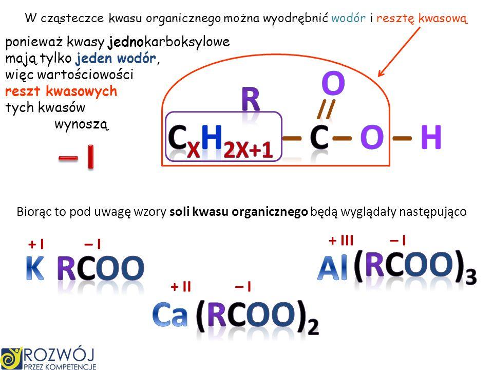 Jest spowodowane działalnością bakterii octowych, które czerpią energię z tego procesu C 2 H 5 OH + O 2 CH 3 COOH + H 2 O 1 cząsteczka + 1 cząsteczka