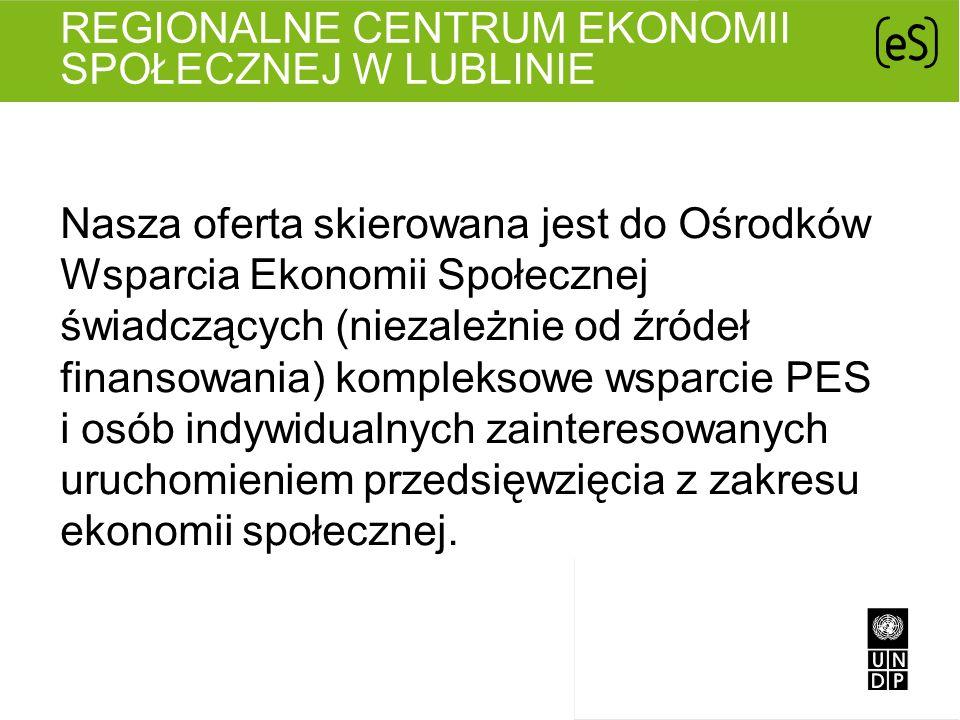 Nasza oferta skierowana jest do Ośrodków Wsparcia Ekonomii Społecznej świadczących (niezależnie od źródeł finansowania) kompleksowe wsparcie PES i osó