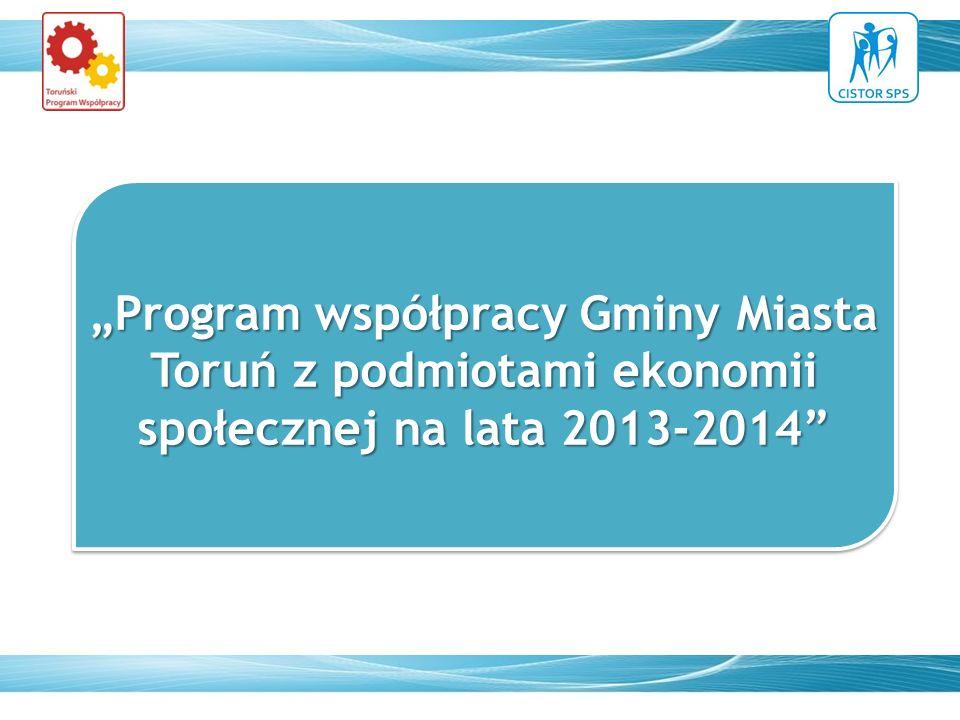 Program współpracy Gminy Miasta Toruń z podmiotami ekonomii społecznej na lata 2013-2014