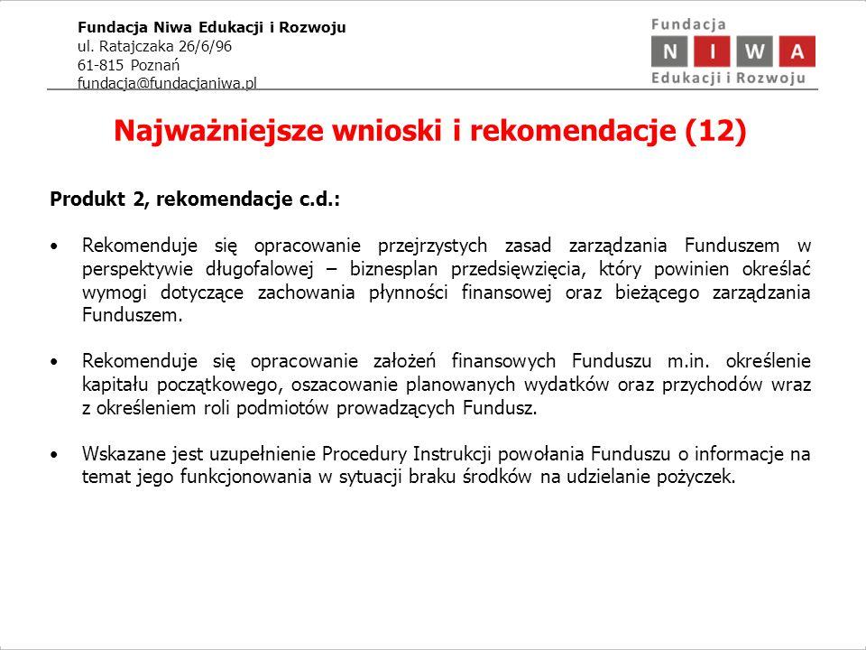 Fundacja Niwa Edukacji i Rozwoju ul.
