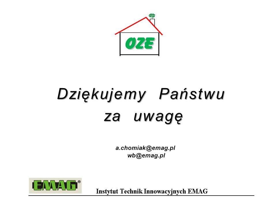 Dziękujemy Państwu za uwagę za uwagę a.chomiak@emag.pl wb@emag.pl