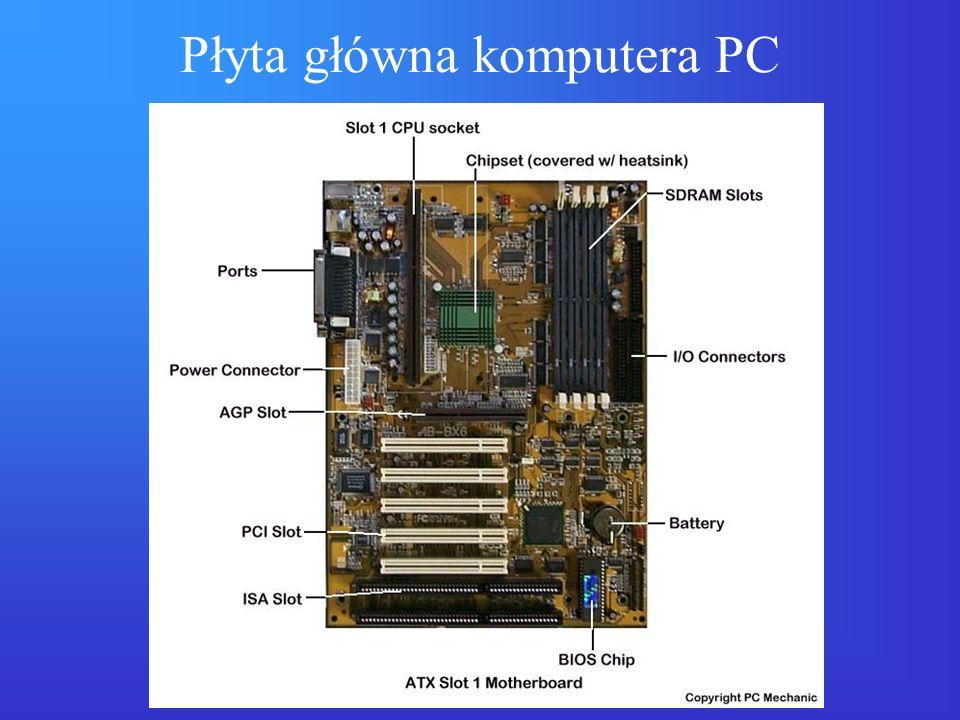 Przetwarzanie rozproszone Architektura klient–serwer: –aplikacja podzielona na część klienta (front-end) wykonywaną na stacji roboczej/PC np.
