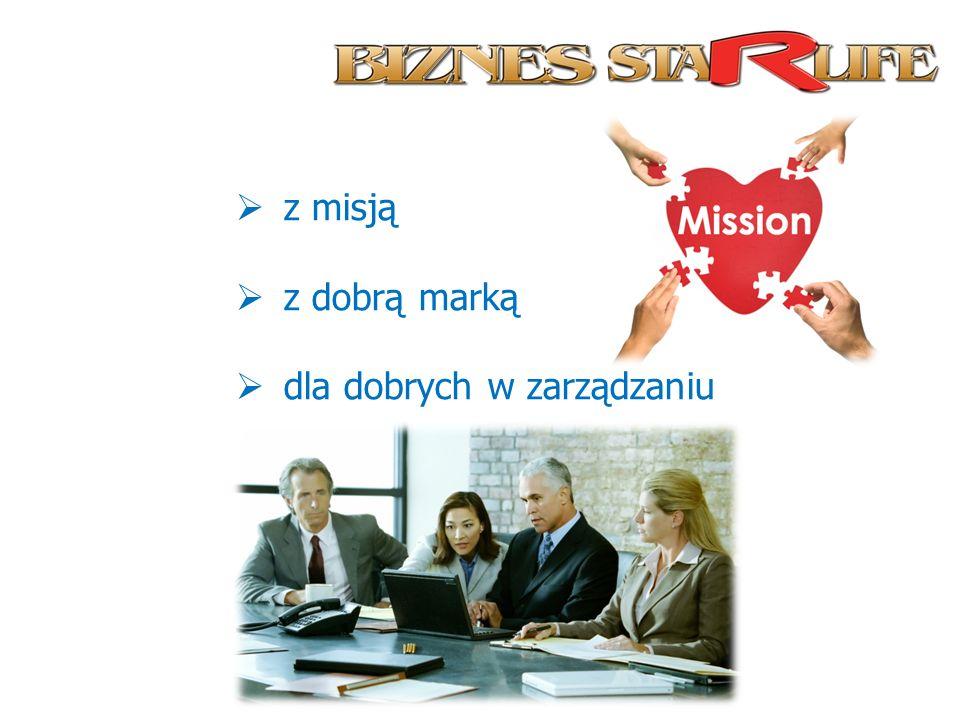 z misją z dobrą marką dla dobrych w zarządzaniu