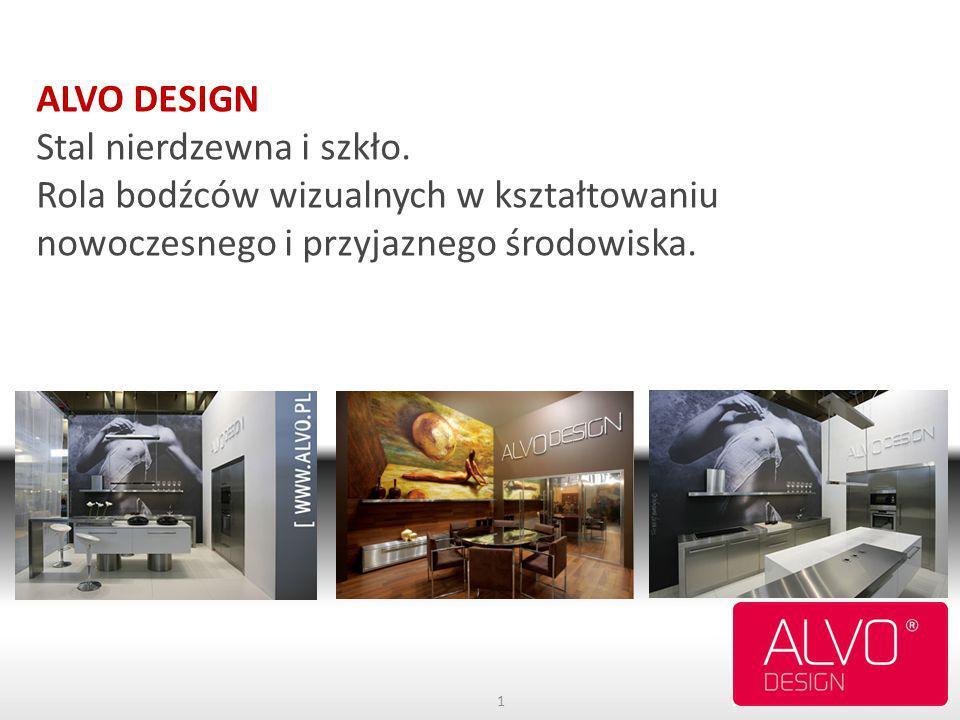ALVO DESIGN Stal nierdzewna i szkło. Rola bodźców wizualnych w kształtowaniu nowoczesnego i przyjaznego środowiska. 1
