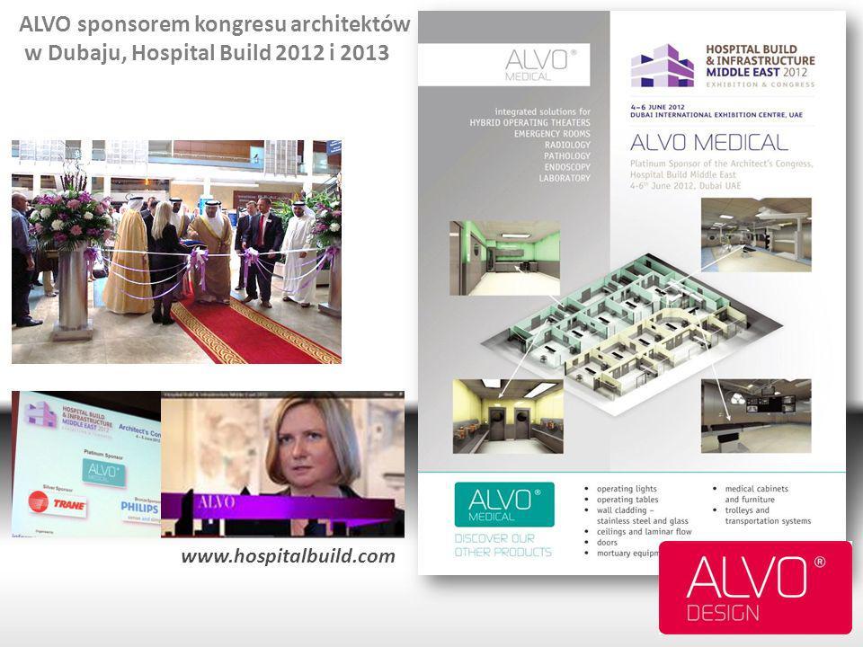ALVO sponsorem kongresu architektów w Dubaju, Hospital Build 2012 i 2013 www.hospitalbuild.com