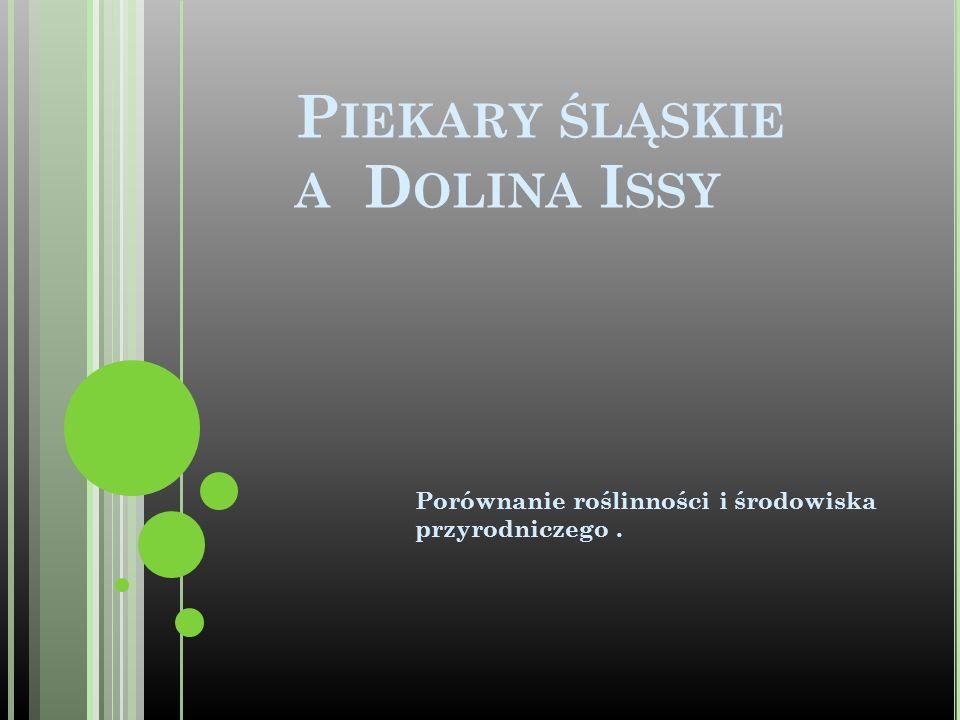 P IEKARY ŚLĄSKIE A D OLINA I SSY Porównanie roślinności i środowiska przyrodniczego.