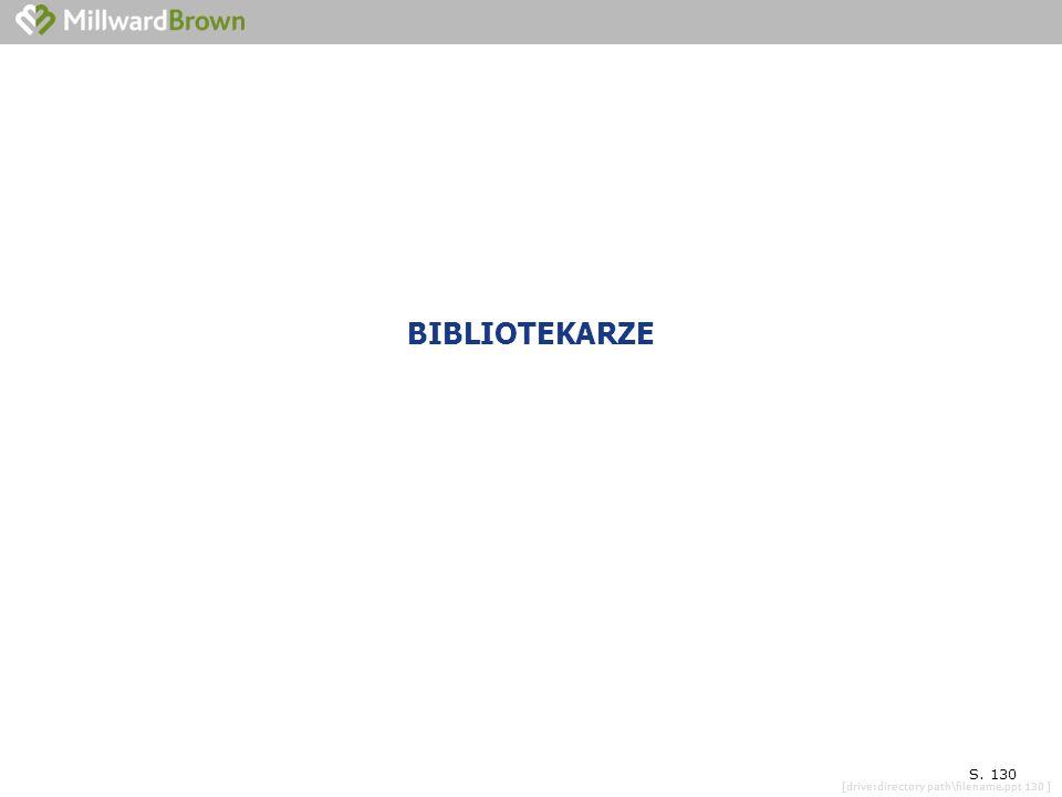 [drive:directory path\filename.ppt 130 ] OGÓLNA SYTUACJA CAŁEJ BIBLIOTEKI GMINNEJ S. 130 BIBLIOTEKARZE