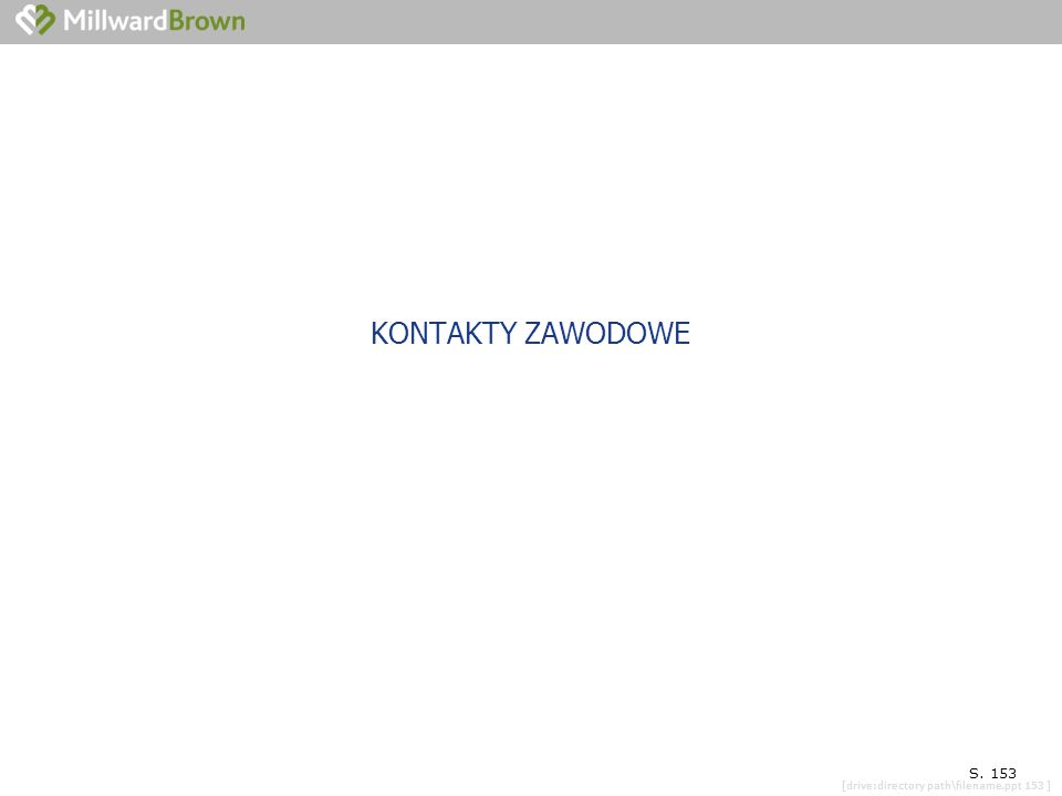 [drive:directory path\filename.ppt 153 ] SYTUACJA ZAWODOWA BIBLIOTEKARZA S. 153 KONTAKTY ZAWODOWE