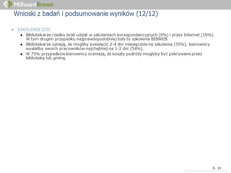 [drive:directory path\filename.ppt 16 ] SYTUACJA KONKRETNEJ PLACÓWKI S.